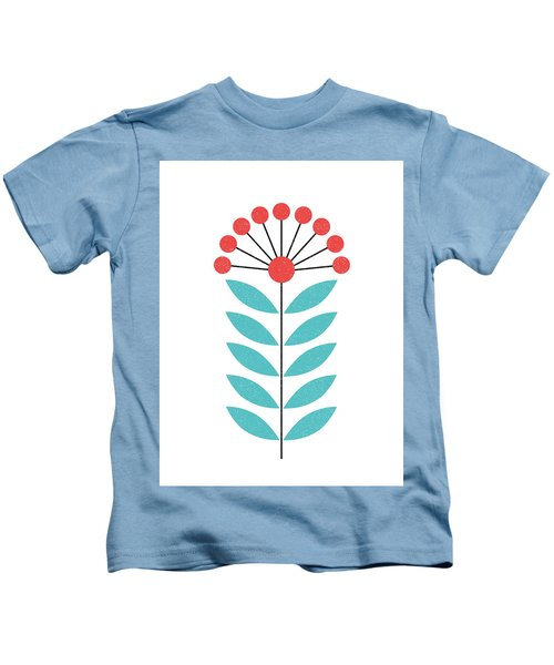 Scandinavian Coral Flower II Kids T-Shirt