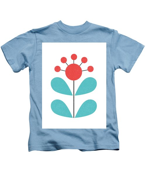 Scandinavian Coral Flower Kids T-Shirt