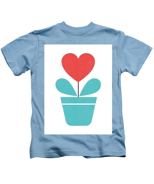 Scandinavian Heart Flower I Kids T-Shirt