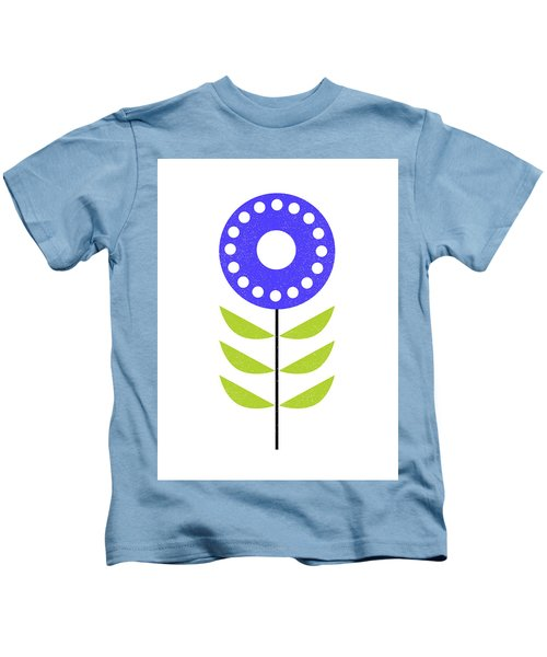Scandinavian Yellow Green Flower I Kids T-Shirt
