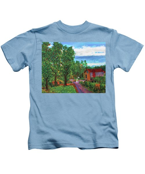 Scene From Giverny Kids T-Shirt