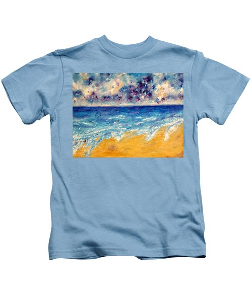 Kids T-Shirt featuring the painting Searching For Rainbows by Tracy Bonin