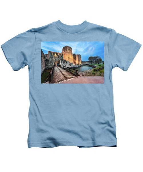 Smederevo Fortress Gate And Bridge Kids T-Shirt