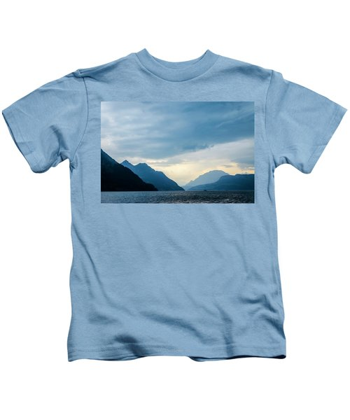 Storm Clouds On Lake Lucerne Kids T-Shirt