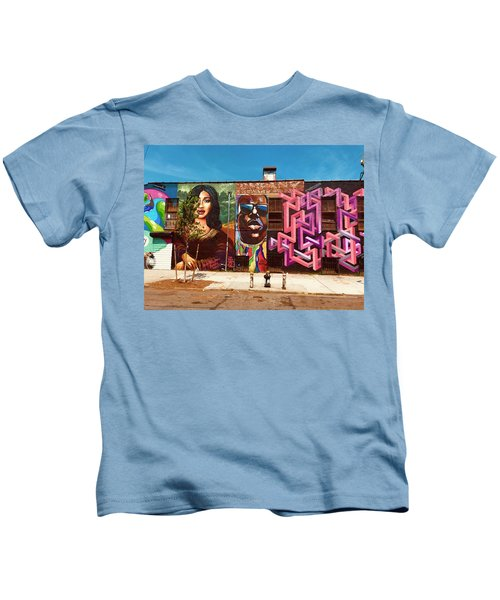 Stunning Brooklyn Wall  Kids T-Shirt