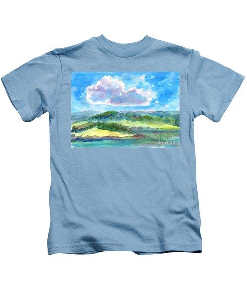 Summer Cloud In The Azure Sky Kids T-Shirt