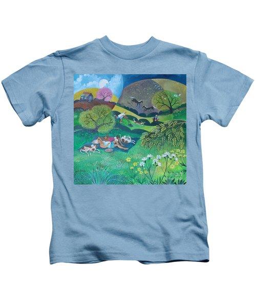 Sunny Suburban Sunday Kids T-Shirt