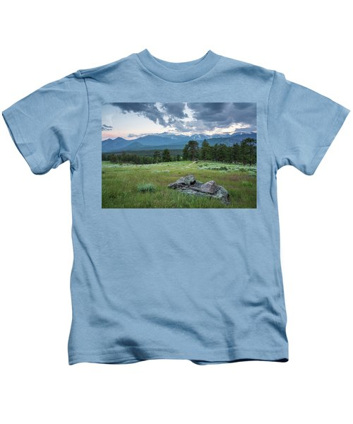 Sunset In Rocky Mountain National Park  Kids T-Shirt