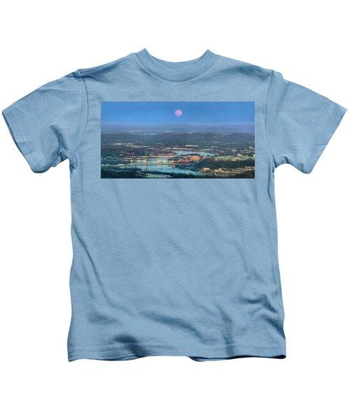 Super Moon Over Chattanooga Kids T-Shirt