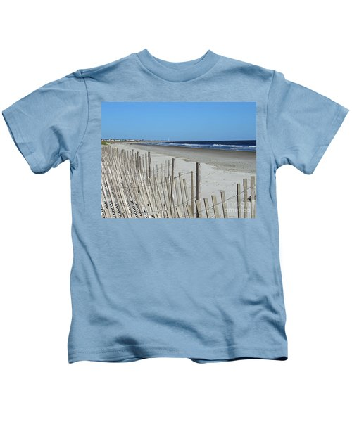 The Beach At Holden Beach North Carolina Kids T-Shirt