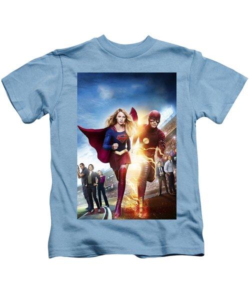 The Flash E Supergirl Kids T-Shirt