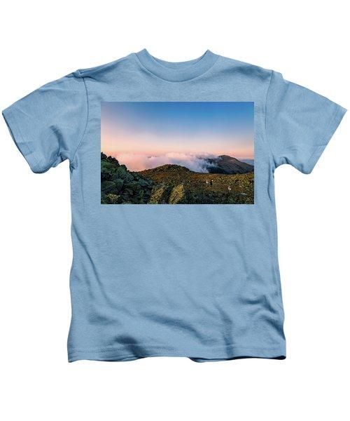 The Hiker - Mt Jefferson, Nh Kids T-Shirt