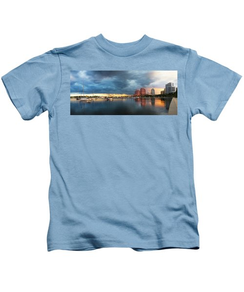 The Skyline Of West Palm Beach At Sunset Kids T-Shirt