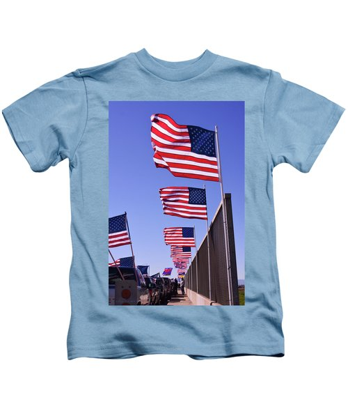 U.s. Flags, Presidents Day, Central Valley, California Kids T-Shirt