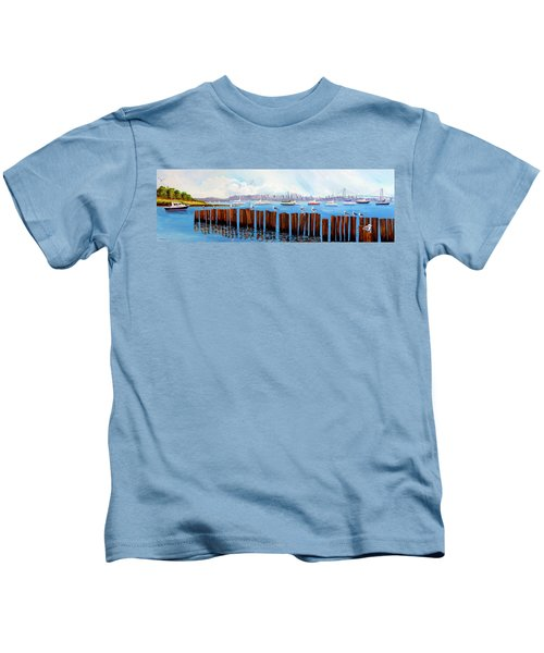 View From The Moshier's Tiki Bar Kids T-Shirt