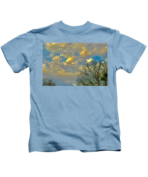 Warm And Cool Sky Kids T-Shirt