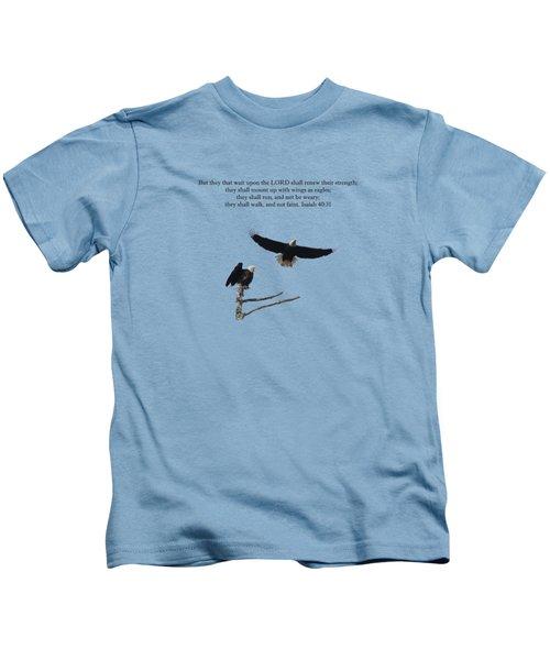 Wings Like Eagles Isaiah 40 31 Kids T-Shirt