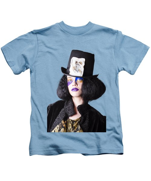 Woman In Joker Costume Kids T-Shirt