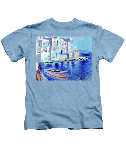 Wondrous Mykonos  Kids T-Shirt