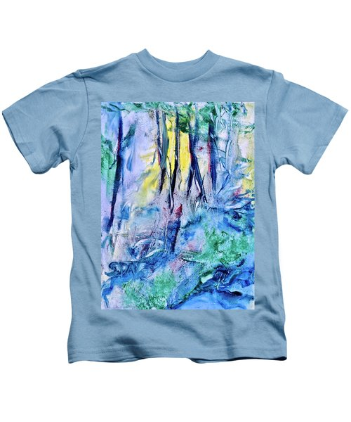 Wooded Stream Kids T-Shirt