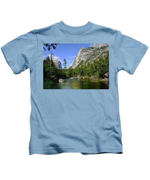 Yosemite Mirror Lake, Lower Pool Kids T-Shirt