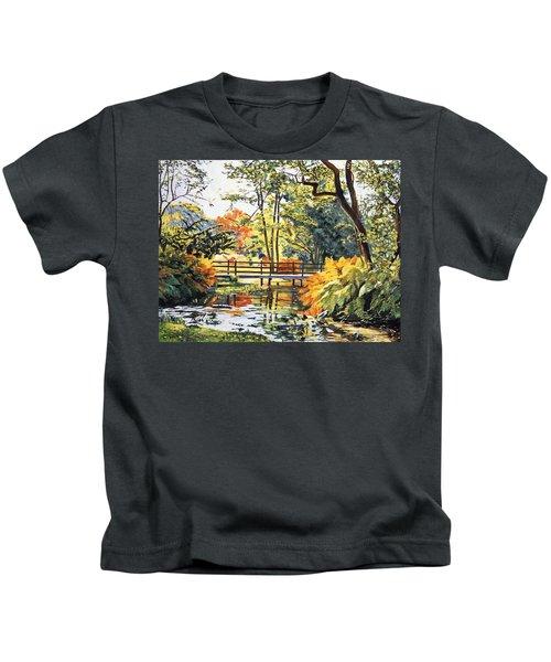 Autumn Water Bridge Kids T-Shirt