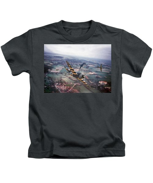 P47- D-day Train Busters Kids T-Shirt