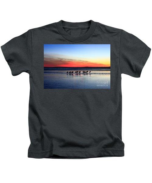 Shorebird Sunset Kids T-Shirt