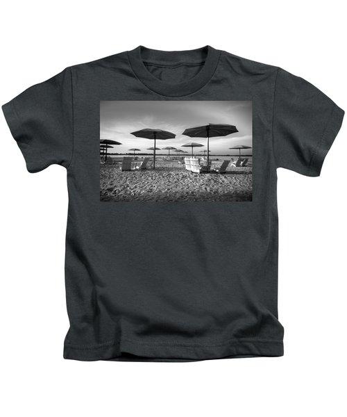 Umbrellas On The Beach Kids T-Shirt