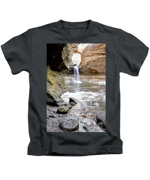 0941 Cascade Falls - Matthiessen State Park Kids T-Shirt