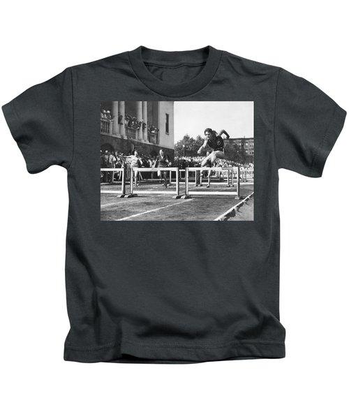 Babe Didrikson High Hurdles Kids T-Shirt
