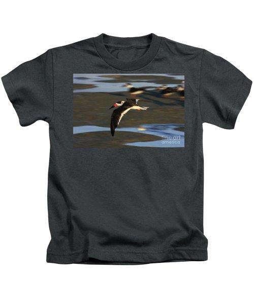 Black Skimmer Beach Kids T-Shirt