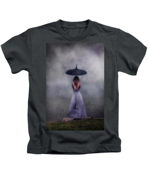 Black Umbrella Kids T-Shirt