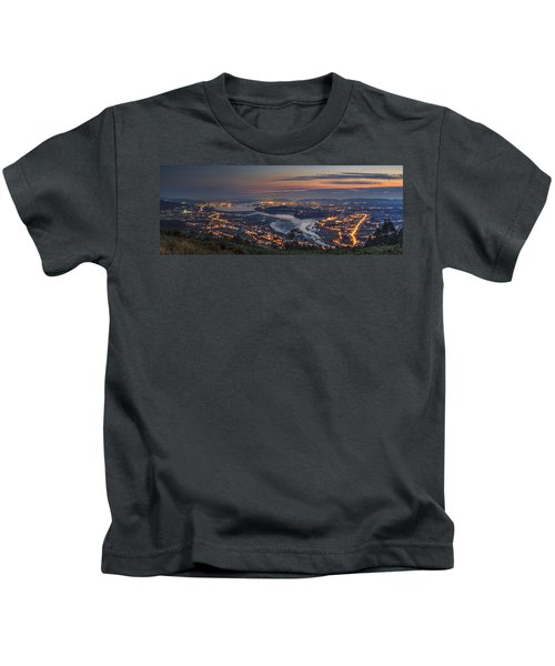 Ferrol's Ria Panorama From Mount Ancos Galicia Spain Kids T-Shirt