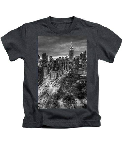 Flatiron District Birds Eye View Kids T-Shirt