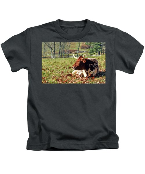 Lazy Morning Bull Kids T-Shirt