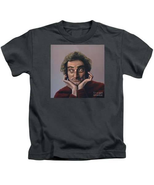 Marty Feldman Kids T-Shirt by Paul Meijering