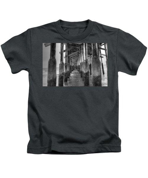 Newport Beach Pier Kids T-Shirt