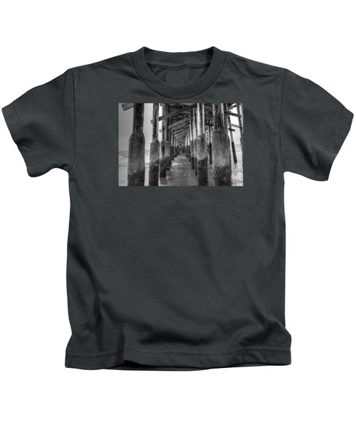 Newport Beach Pier Kids T-Shirt