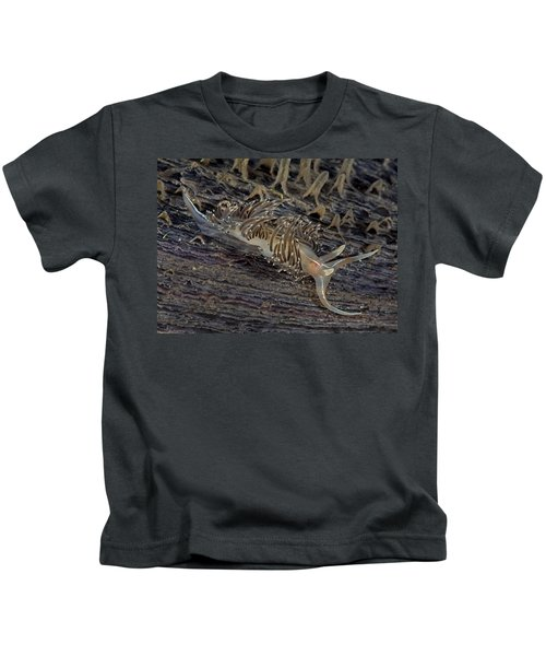 Nudibranch Sitting On A Pen Shell Kids T-Shirt