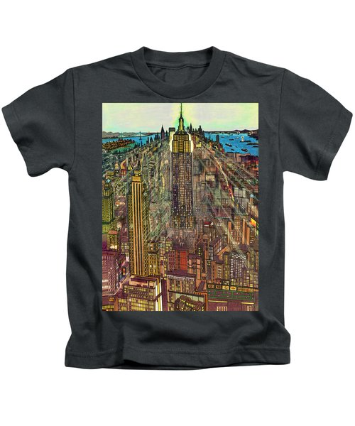 New York Mid Manhattan 1971 Kids T-Shirt