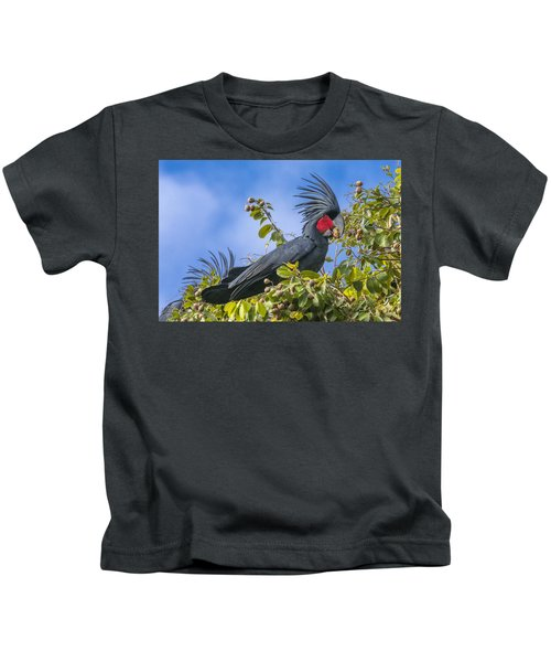 Palm Cockatoo Male Feeding On Nonda Kids T-Shirt