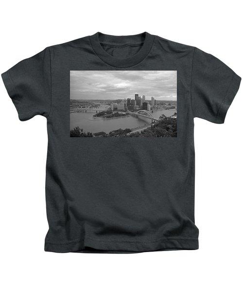 Pittsburgh - View Of The Three Rivers Kids T-Shirt