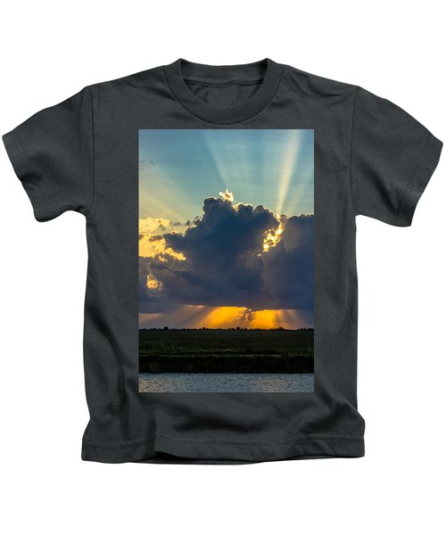 Rays From The Clouds Kids T-Shirt