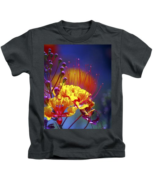 Red Yellow Blossoms 10197 Kids T-Shirt