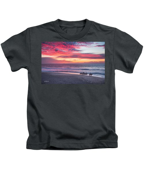 Riding In The Sunset Kids T-Shirt