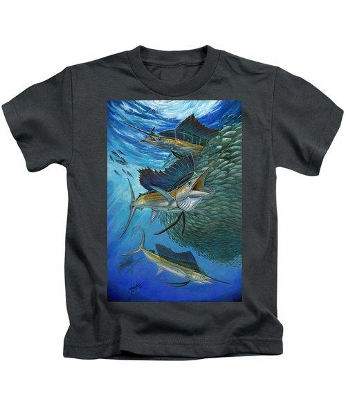 Sailfish With A Ball Of Bait Kids T-Shirt