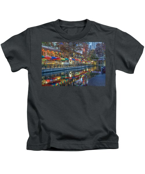 San Antonio Riverwalk Kids T-Shirt
