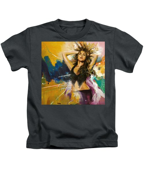 Shakira Kids T-Shirt by Corporate Art Task Force