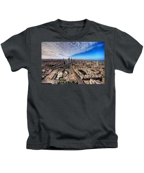 Tel Aviv Skyline Kids T-Shirt